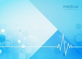 Backgroind médico abstracto con línea de latidos del corazón