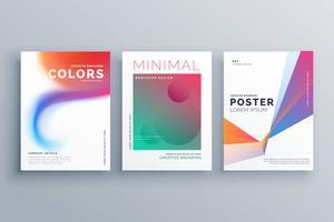 ensemble créatif du vecteur de conception affiche coloré entreprise