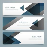 vector abstract horizontal business banner set