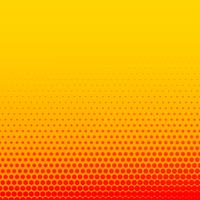 Fondo de semitono de estilo cómico amarillo naranja brillante