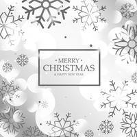 erstaunlicher glänzender silberner Hintergrund mit schwarzem Schneeflockeneffekt