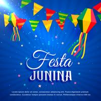 festa junina party greeting design illustration