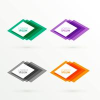abstract colorful banners with text space