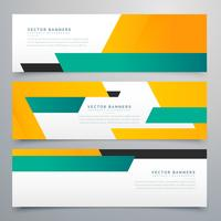 amazing geometric banners and headers collection