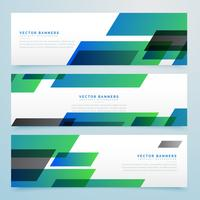 modern geometric banners and headers set