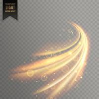 brilho de luz transparente de fundo vector efeito
