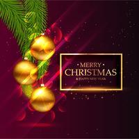 awesome christmas festival seasonal greeting card design with go