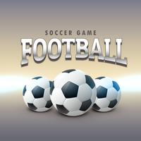 three realistic football design background