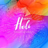 abstrato design de cartaz feliz holi com fundo colorido