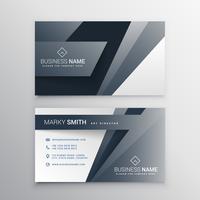 Diseño de plantilla de tarjeta de visita gris moderno