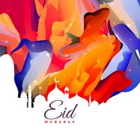 eid mubarak design criativo fundo abstrato