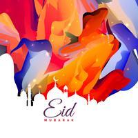 Diseño de fondo abstracto creativo de eid mubarak