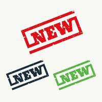 nuovo segno e simbolo timbro di gomma