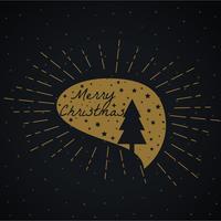 árvore de natal e estrelas na bolha de bate-papo