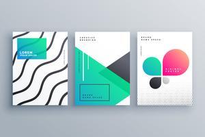 Diseño mínimo de la portada del folleto para su negocio.