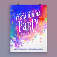 modello di festa junina party flyer