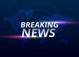Breaking News Banner Hintergrund mit Weltkarte