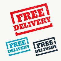 Sello de entrega gratuita sobre fondo blanco