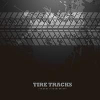 tire tracks impression on dark background