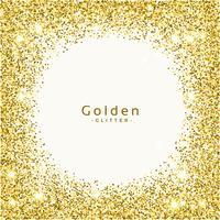 golden glitter frame background vector