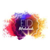 waterverf grunge met eid Mubarak tekst