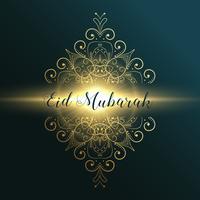 eid mubarak festival musulmano biglietto di auguri design con dec floreale