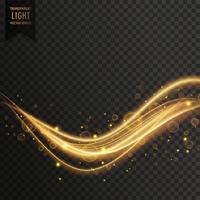 transparante gouden lichteffect vector achtergrond