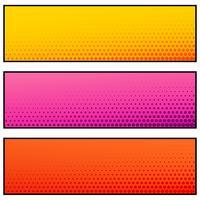 ljusa färg tomma banderoller med halvtonseffekt