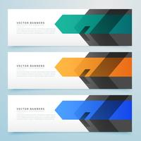business style web banner set design collection