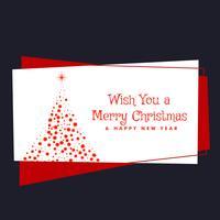 vrolijke kerst festival groet met boom gemaakt met rode stippen