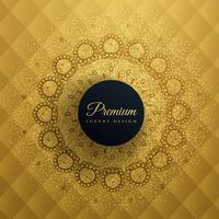premum gouden achtergrond met mandala decoratie