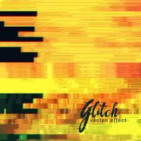 yellow glitch background vector
