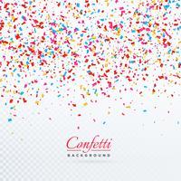 design fond coloré chute confettis