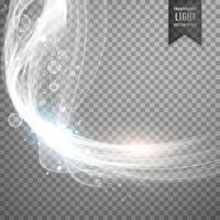 fond d'effet de lumière blanche transparente