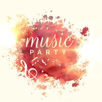abstraktes Musikpartei-Aquarell-Ereignisschablonendesign