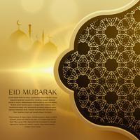 geweldige eid festival achtergrond met islamitische patroon ontwerp