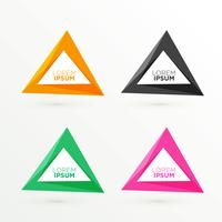 abstract triangle banners set with text space