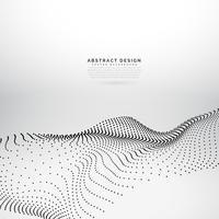 Fond de vague dynamique de maille de particule 3D