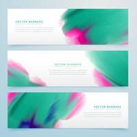 modern watercolor horizontal banner design template