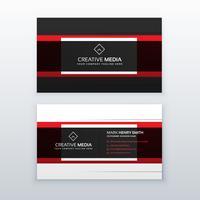 vecteur de conception de carte de visite professionnelle rouge et noir