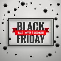 Impresionante cartel de venta de viernes negro con fondo de puntos negros