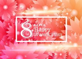 glückliche Frau Tagesauslegung mit Blumenhintergrunddekoration