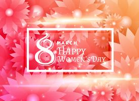 glad kvinna dag design med blomma bakgrundsdekoration
