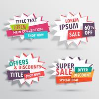 incrível coleção de banners de vendas com detalhes