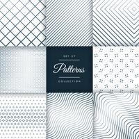 set of line pattern vector background