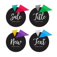conjunto de banners de círculo colorido oscuro abstracto