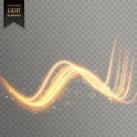 fond d'effet de traînée de lumière transparente ondulée