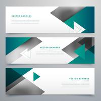 business style geometric banners set