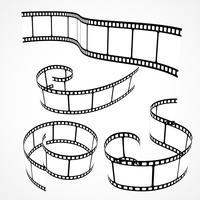 colección de tiras de película 3d