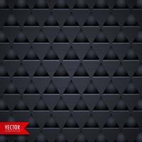Fondo de vector de triángulo oscuro textura patrón